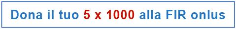 Dona il tuo 5x1000 a FIR