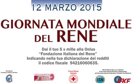 Giornata Mondiale del Rene: 12 marzo 2015
